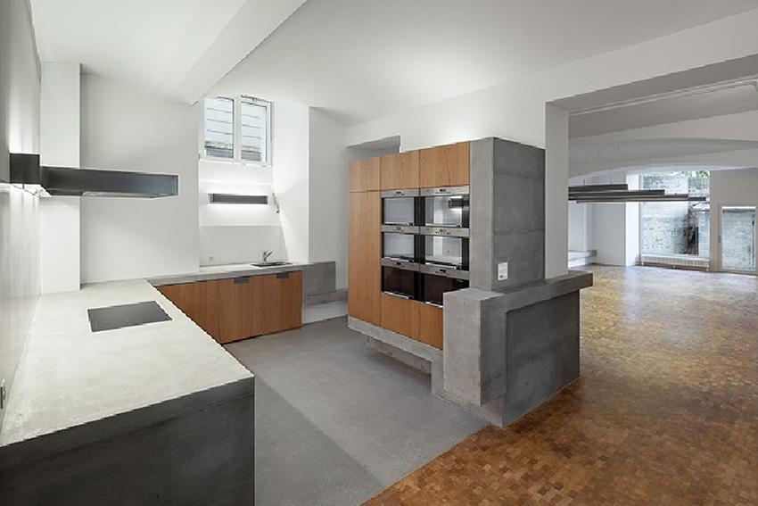 Baumann Küchen küche mit betonabdeckung